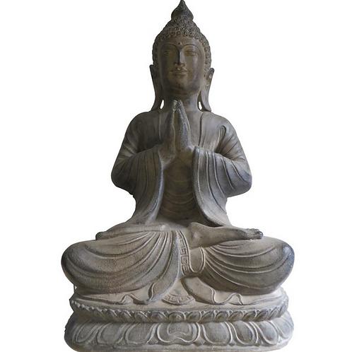 "Indonesian Sitting Praying Buddha, 11"" tall"