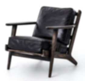 CIRD-72K5-G6H6, irondale brookes lounge, black, leather, chair, seat, occasional, club, reclaimed, distressed, leather, down, small, slat, black, brown, gray, grey, charcoal, smokey, comfy, comfortable, cool, unique, hand made, hand crafted, hand finished