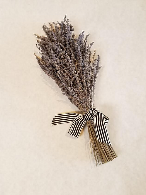 """14.5"""" Preserved Lavender Bouquet with Ribbon"""