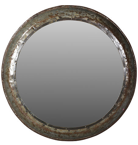 down, home, furnishings, ojai, ca, california, ventura, county, metal, round, mirror, hammered, DVTrident.jpg