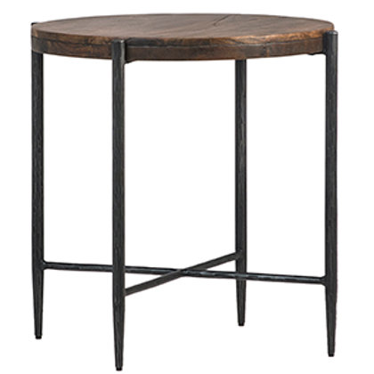 Mango Wood and Iron Side Table