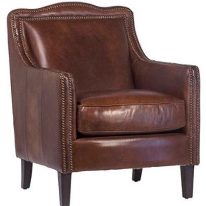 Cowhide Leather Club Chair