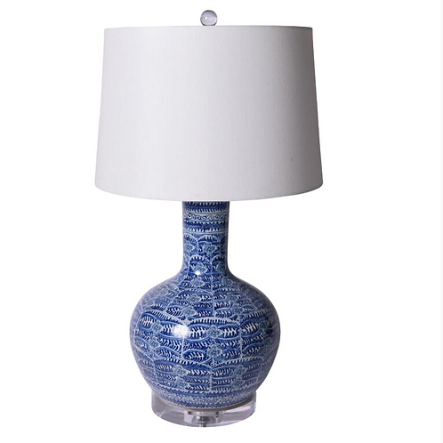 Blue and White Blossom Porcelain Lamp (also available as a Vase)
