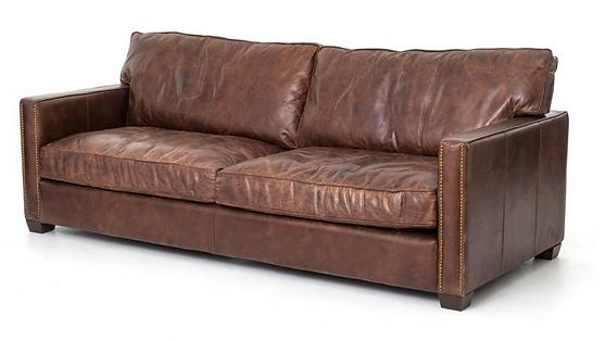 CCAR-25, larkin, 4h, leather, down, sofa, nailhads, interio, design, Ojai, home, furniture, furishings