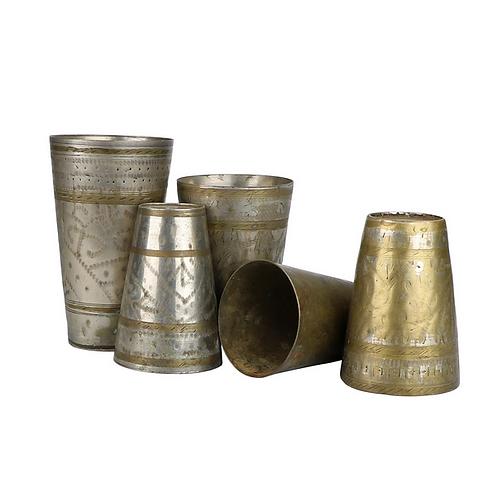 Vintage Metal Engraved Cup, not considered food safe