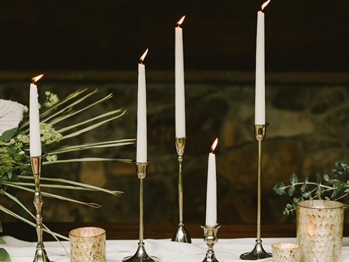 Brass Candlesticks (also available in Silver Plate)