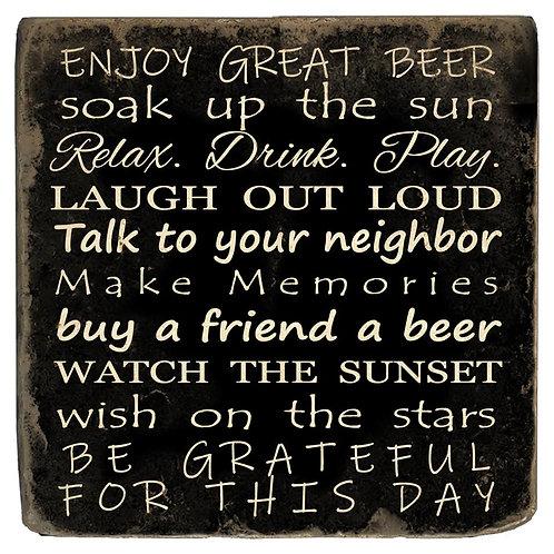 Marble Coaster - Enjoy Great Beer