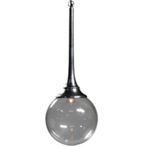 Modern Industrial Globe Pendant Light, Large