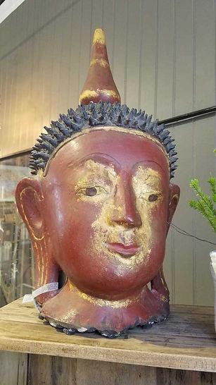 paper, mache, papier, mâché, buddha, head, gold, red, vintage, antique, burma, burmese, 20190423_122227_1024.jpg