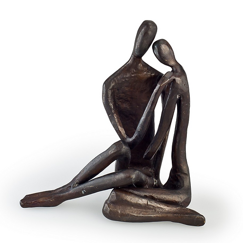 Cast Bronze Couple Hugging