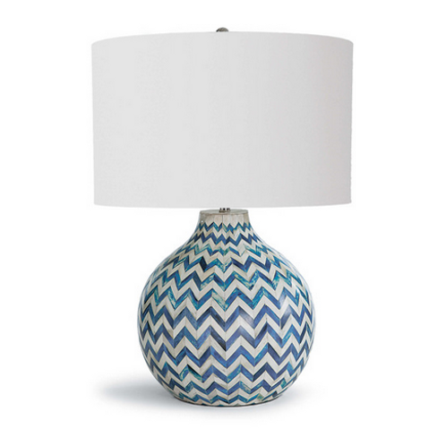Blue and White Ceramic Table Lamp