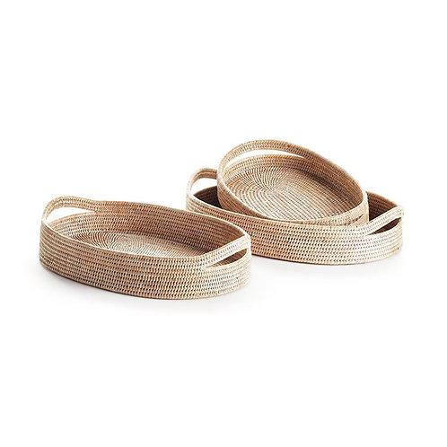 Hand Woven Burmese Rattan Oval Tray