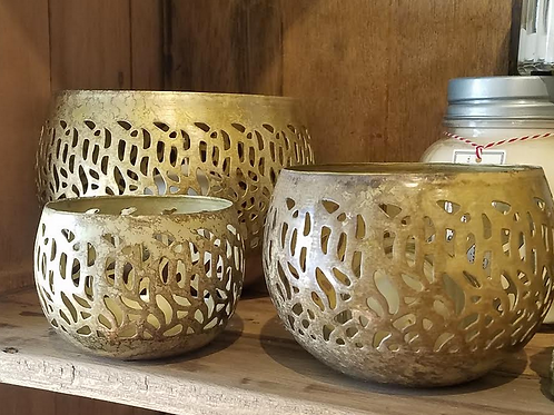 Punched Brass Bowl
