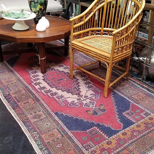 Vintage Wool Rug, 4' x 8'