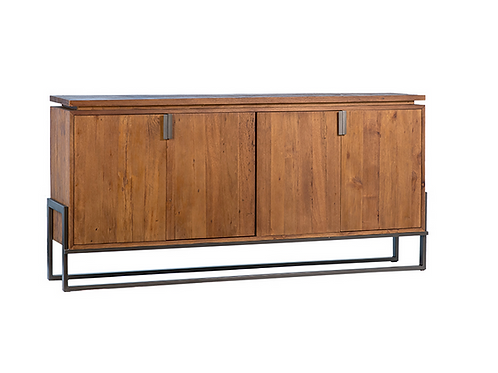 Recycled Wood & Iron Sideboard from Indonesia
