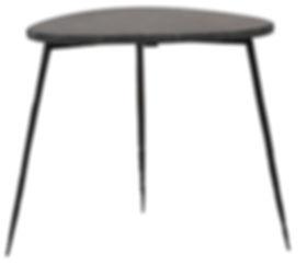 dov14005, olivo, black, marble, side, table, hammered, iron, legs, three, legs, tripod, table, modern, inteior, design, house, home, Ojai, Californi, furniture, furnishings