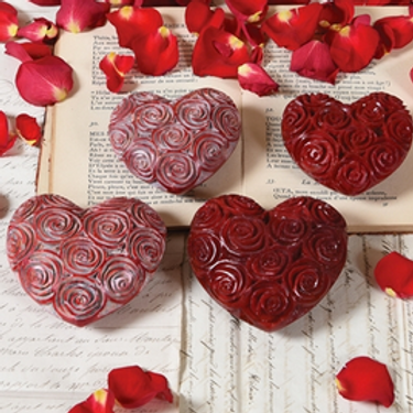 Red or Pink Soapstone Hearts