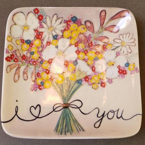 """Square Stoneware Plate, 4-1/2"""""""