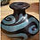 Thumbnail: Hand Painted Black and Turquoise Vase