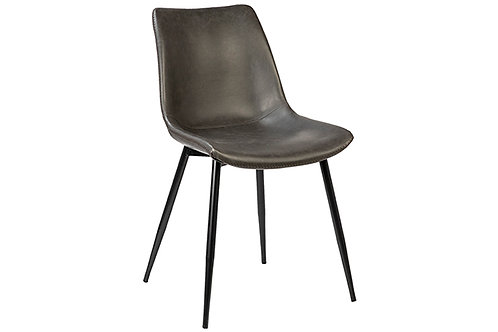 Dark Grey Faux Leather Chair