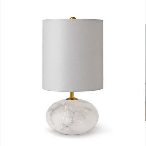 White Alabaster Table Lamp
