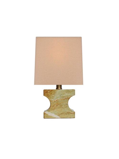 Small Light Brown Jade Table Lamp