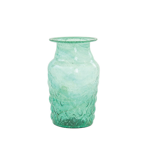 Hand Blown Recycled Green Glass Vase