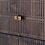 Thumbnail: Dark Brown Mango Wood Cabinet on an Iron Base