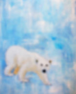 Kate, Hoffman, art, artist, local, wall, canvas, oil, Ojai, California, Southern, CA, Ventura, county, original, signed, horse, blue, white, washed, faded, light, orange, red, simple, elegant