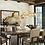"Thumbnail: Mid Century Modern Style Smoky Glass Bubble Chandelier, 44"" diameter x 20"""