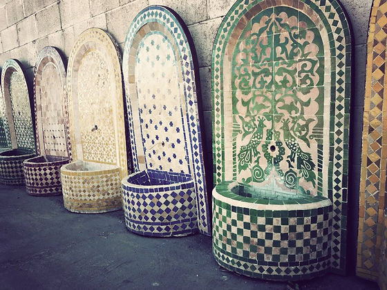Moroccan, tile, fountains, handmade, Ojai interior design, Ventura County interior design, outdoor, Ventura County, Ojai, yard, design, sourcing, landscaping, Ojai, California, Down Home Furnishings