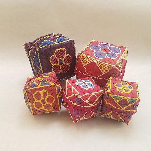 Hand Painted Woven Boxes