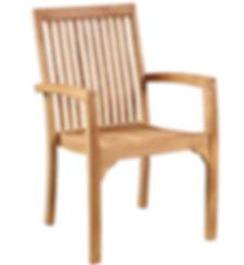 BJ002,D, outdoor, teak, dining, chair, armchair, arm, teak, wood, slat, basic, modern, quality, patio, deck, home, interior, design, Ojai, California