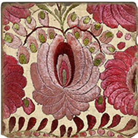 Marble Coaster - Quilted Flower