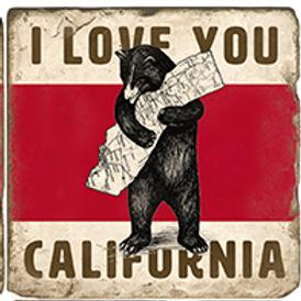 Marble Coaster - I Love You California