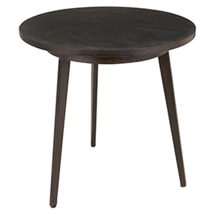 Side Table with Iron Legs and Recycled Tire Tread Top