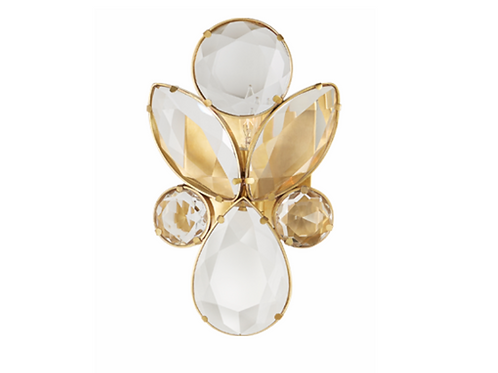 Jeweled Wall Sconce with Clear Crystal Accents