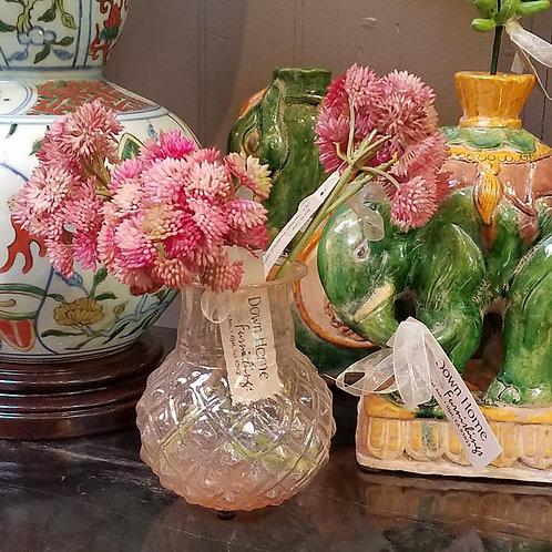 Hand Blown Glass Pink Vase