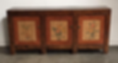 down, home, furnishings, sideboard, antique Chinese, cabinet, roses, pink, hand, painted, Ojai, California, Ventura, County, PD_SP44-38 3 DOOR CABINET.png