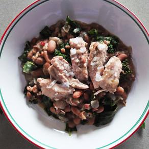 Braised Chicken and Borlotti Beans
