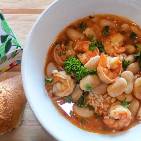 Spicy Garlic Shrimp and Beans