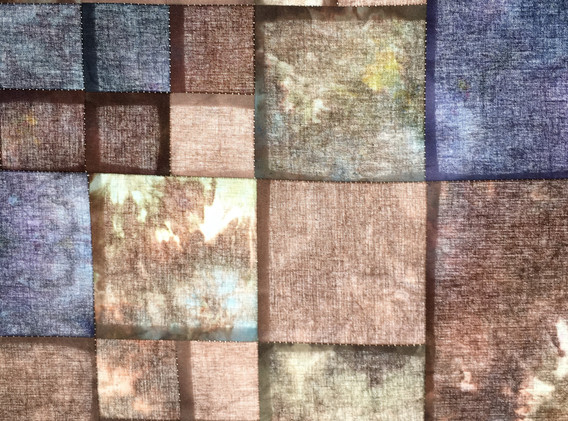 Loam, 4'x2' Hand dyed cotton light panel, 2021