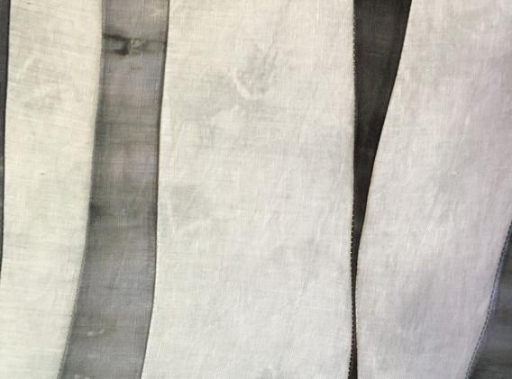 River @ 1am, 4'x2' Hand dyed linen light panel, 2021
