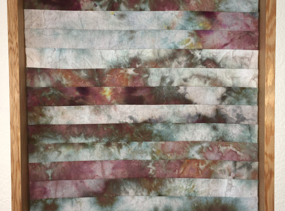 Erode, 1'x1' Hand dyed cotton, 2021