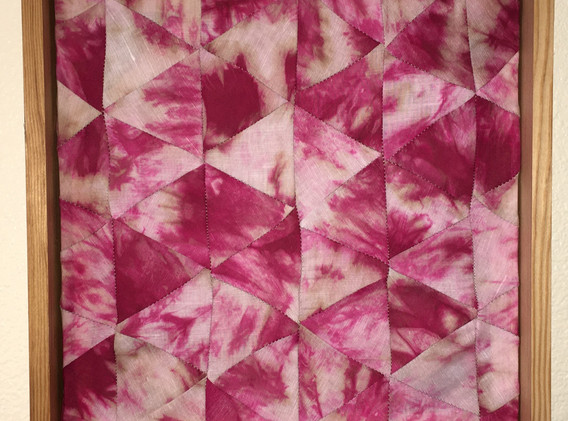 Roseate, 1'x1' Hand dyed Panel, 2021