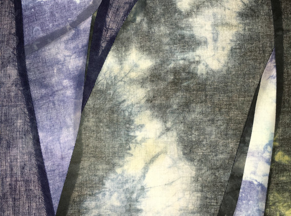In the wake of, 4'x2' Hand dyed cotton light panel, 2021