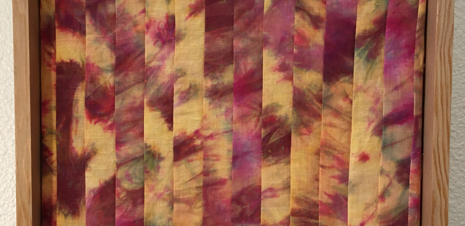Venus, 1'x1' Hand dyed Panel, 2021
