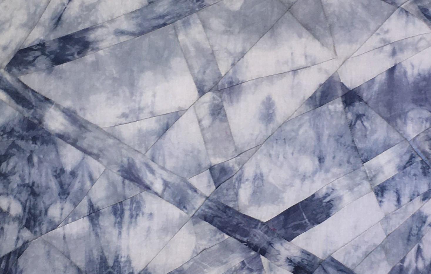 Sleet, 4'x2' Hand dyed linen light panel, 2020