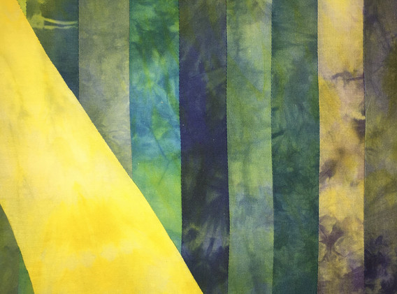 Obstinate, 4'x2' Hand dyed linen light panel, 2021