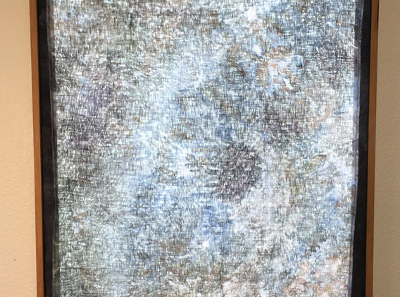 In the wake of, 4'x2' Hand dyed linen light panel, 2021